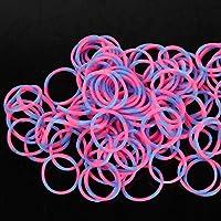 1x Refill Pack nuovo 600Pcs Colourful Rubber Loom Banda DIY con clip (Pink & blue) - Refill Banda