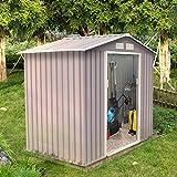 Concept-Usine Sancy 2.71 m² : abri de jardin en metal anti-corrosion gris