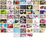 Edition Seidel Set 52 Premium Postkarten zur Hochzeit - Hochzeitsspiel: eine Postkarte jede Woche - Hochzeitsgeschenk - Liebe + Herzen - Dekoidee - Valentinstag - Gästebuch - Geburtstag - Danke