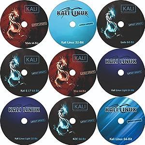 9 DVD Pack Kali Linux 64 Bit + Kali Linux 32 Bit + Kali Linux Light 64 Bit + Kali Linux Light 32 Bit+ Kali Linux E17 64…
