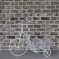 Indipendente da scaffale / Desk Top Organizzazione, Creative rack facile in bicicletta a soffitto-rack detriti,assemblare dimensioni: 67*55*35cm, idilliaco white