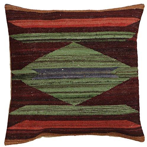 Vente, faite à la main authentique Kilim Housse de coussin Taie d'oreiller style vintage, 58 cm x 58 cm/55,9 cm/55,9 cm (1312) Liquidation de stock