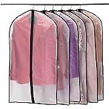 Niviy Housses de Vêtements, Anti Poussière Etanche Mite Humidité,Housses de Protection Zip Semi Transparentes pour Chemise Co