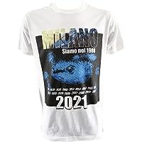 Tshirt Celebrativa 2021 Internazionale 19 Scudetti Milano Siamo Noi 1908 Bianco Adulto Bambino