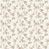MyTinyWorld Paquet de 5 Maison de Poupées Assortiment Rose Fleurs sur Pâle Blanc Papier Peint Feuilles