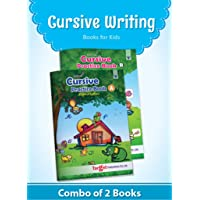 Nurture English Cursive Alphabet Practice Books for Kids | 5 to 8 Year Old | Practice Writing Capital and Small Letters for Children | Book A and B - Set of 2 Books