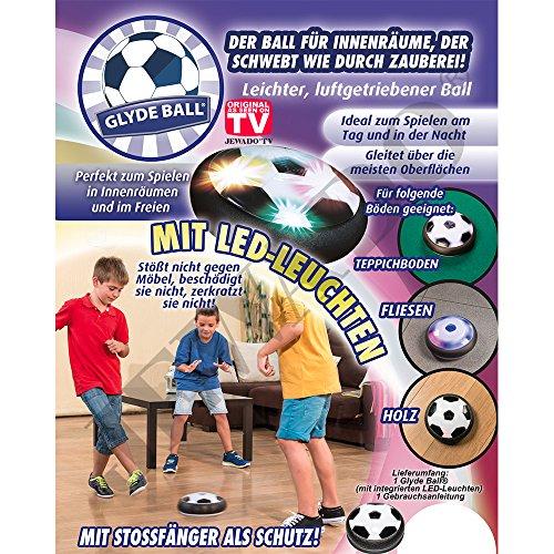 Glyde Ball® Luftgetriebener LED-Ball (Fußball) mit 360° Schaumstoff und Stossfänger als Schutz - Original Produkt aus Dem TV