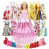 Eligara Puppen Kleidung Puppenkleidung Puppen Schuhe Set Puppen Klamotten Party Kleider Puppen...