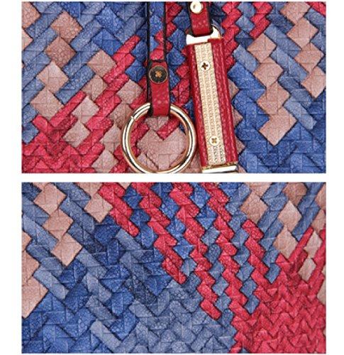 LAIDAYE Fashion Gewebte Handtasche Mobile Messenger Taschen 6