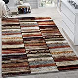 Paco Home Designer Teppiche Modern Loribaft Design Gemustert Teppich Bunt Beige Meliert, Grösse:120x170 cm