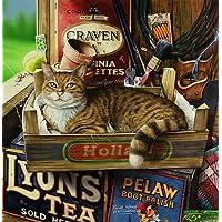 SML.–Il Gatto in the Potting Shed, Stampa da Geoff Tristram, Gatto Dimensioni immagine circa 25,4x 20,3cm