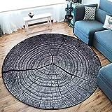 CHENG Runder Teppich Schlafzimmer Teppiche Jahresring 3D-Druck Weiche Küche Bodenmatte Teppich Runde Teppiche,diameter120cm