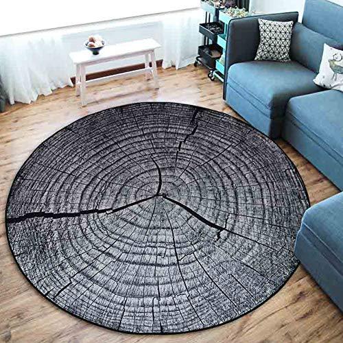 CHENG Runder Teppich Schlafzimmer Teppiche Jahresring 3D-Druck Weiche Küche Bodenmatte Teppich Runde Teppiche,diameter180cm -