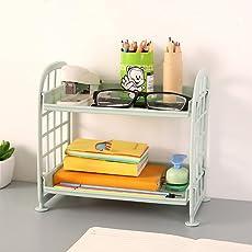 Regal, Aufbewahrung von Mamum, doppelschichtig, Kosmetik, Kunststoff, zwei Schichten, für Küche/Badezimmer, Organizer, Kunststoff Einheitsgröße B