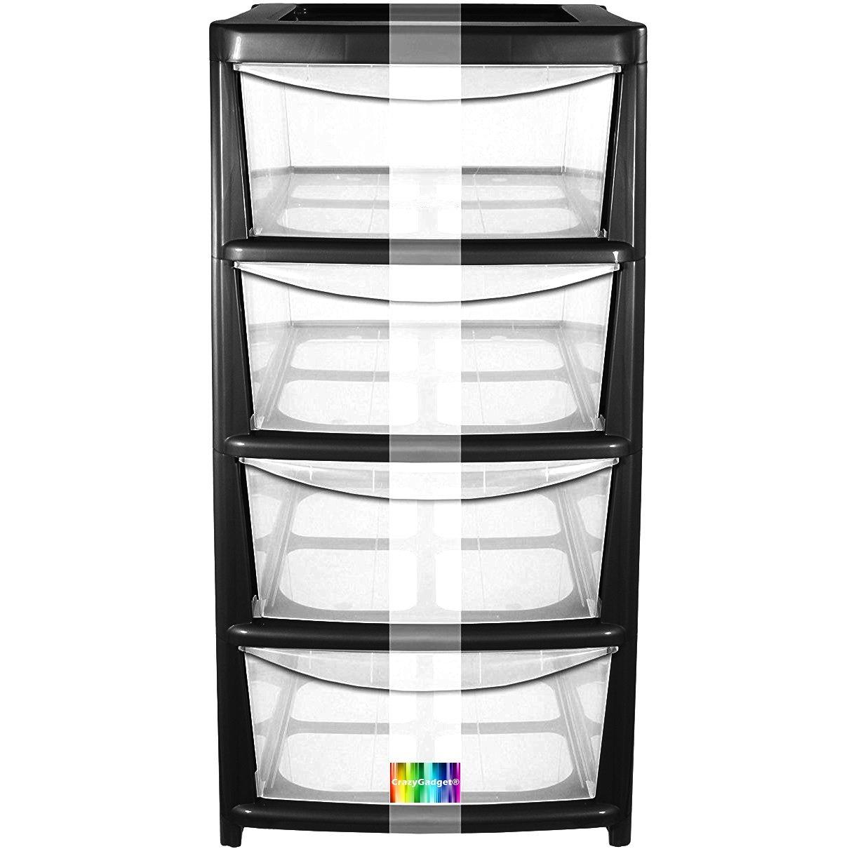 Elegant 4 Drawer Plastic Storage Tower Sterilite 5 Drawer