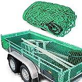 Anhängernetz 200cm x 300cm Gepäcknetz, zur Ladungssicherung grün Containernetz, Sicherungsnetz, Ladungssicherungsnetz