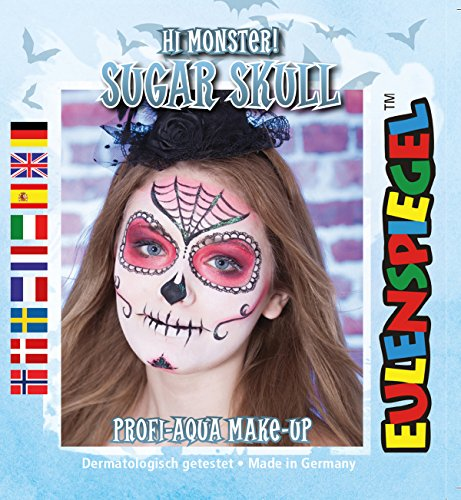 Monster ! Sugar Skull Profi-Aqua Make-up Halloween Kinderschminke (Schädel Make-up Für Halloween)