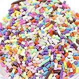 Prevently - Perline di polistirolo colorate decorative per Slime, bricolage e artigianato fai da te, Colour B