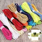 #8: MSGH Pack Of 20 Colorful Diy Paper Rope Threads For Various Art And Craft Projects And Decoration.