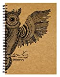 #5: Labartry's Artist Sketch Book Wiro Bound A5 - 60 Pages (The Wise Owl), Brown Cover