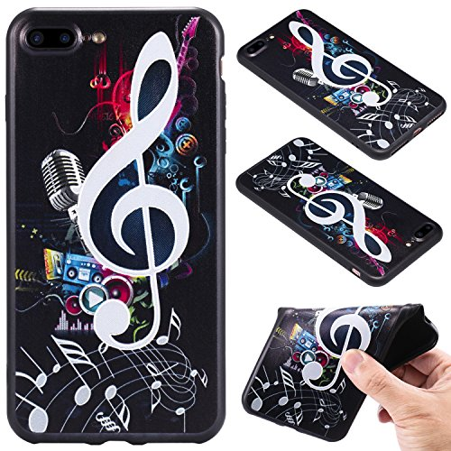 Nancen Case Apple iPhone 7 Plus / 8 Plus (5,5 Zoll) Gemaltes Muster Handy Hülle . Weich TPU Silikon Case