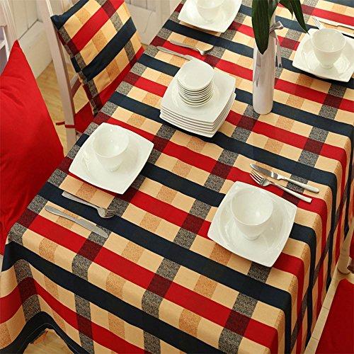 Europäische Tischtücher England karierte Leinwand dicker Tischdecken Haus Tisch Tischtücher Tischdecken , 1 , 70*70 (cm) (Leinwand Karierte)