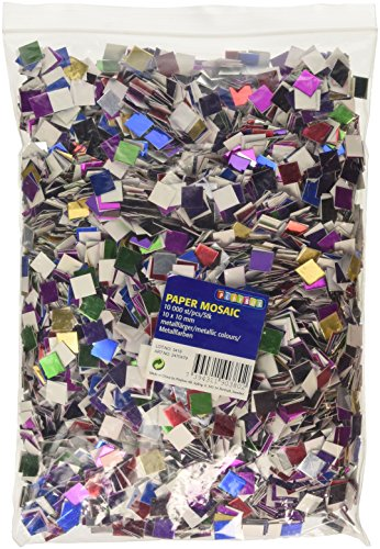 Playbox 10 x 10mm Metallic Paper Mosaic (10000 Pieces)