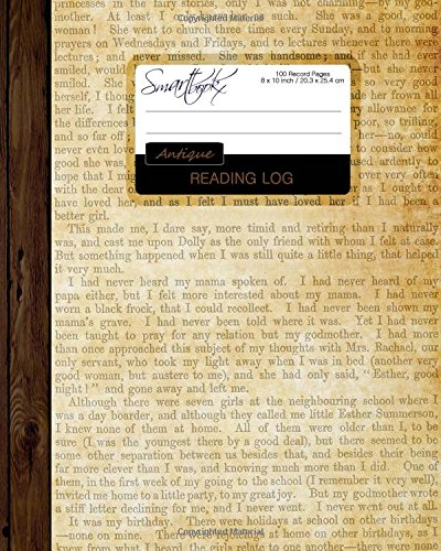"""Reading Log: Gifts for Book Lovers / Reading Journal [ Softback * Large (8"""" x 10"""") * Antique Paper * 100 Spacious Record Pages & More... ] (Reading Logs & Journals)"""
