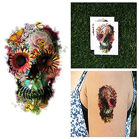 Tattify Garden Skull Collage Temporary Tattoo - Graveyard Girl (Set