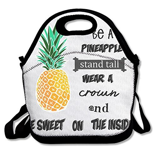 Be a Ananas Personalisierte Isolierte Lunchtasche Lunch Tote Neopren Gourmet Food Bag Handtasche Lunchbox Cooler Warmen Beutel Picknick Tasche für Schule Arbeit Büro