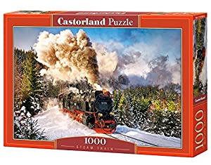 Castorland Steam Train 1000 pcs Puzzle - Rompecabezas (Puzzle Rompecabezas, Vehículos, Niños y Adultos, Niño/niña, 9 año(s), Interior)