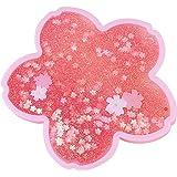 WANJIAJIA Kaffemuggar med dubbla väggar Kawaii kopp värmebeständiga termoisolerade katttassar koppar med rosa Sakura-mönster