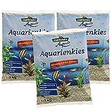 Dehner Aqua Aquarienkies, Körnung 2 - 3.2 mm, 3 x 5 kg (15 kg), weiß