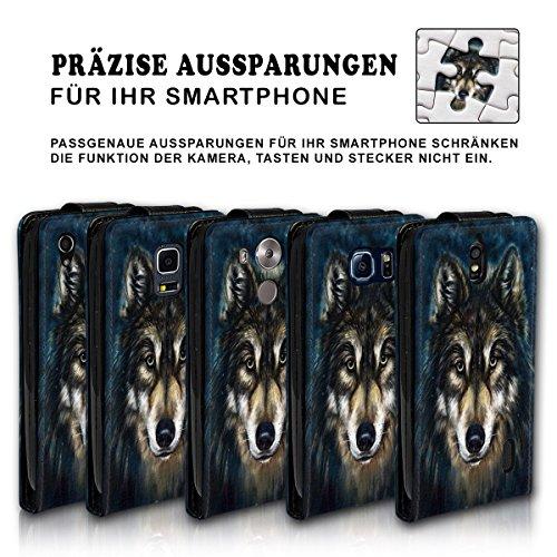 Vertikal Flip Style Handy Tasche Case Schutz Hülle Schale Motiv Etui Karte Halter für Apple iPhone 6 Plus / 6S Plus - Variante VER40 Design9 Design 12