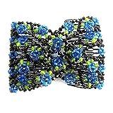 Donna pullover chic rose Flower Bow in rilievo pettine clip polsino doppio inserto
