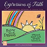 2019 Expressions of Faith the Inspirational Artwork of Joanne Fink 16-Month Wall Calendar: By Sellers Publishing