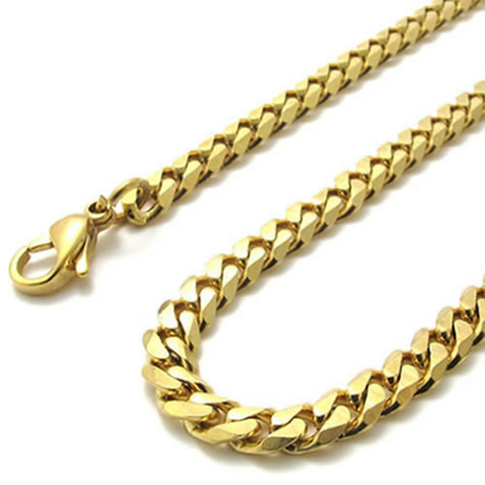Konov jewellery mens stainless steel necklace twist link chain konov jewellery mens stainless steel necklace twist link chain colour gold width 4mm length 14 inch with gift bag konov jewellery amazon mozeypictures Images