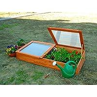 Frühbeet Frühbeetkasten Mini-Gewächshaus aus Holz 140 x 70 x 28 cm von Gartenpirat®