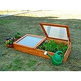 Gartenpirat Frühbeet Frühbeetkasten Mini-Gewächshaus aus Holz 140 x 70 x 28 cm