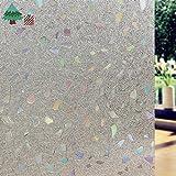Lifetree 006 privacy film film finestra film statico autoadesiva colorato 3D /45 pietra * 200cm