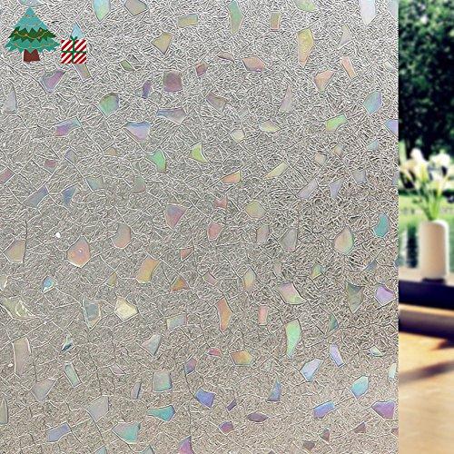 Lifetree 006 Selbstklebend ohne Klebstoff Fensterfolie 3D Statisch Folie Sichtschutzfolie 45*200CM