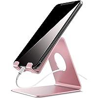 Lamicall Support Téléphone, Dock Téléphone : Support Dock pour Phone XS Max XR X 8 7 6 6S Plus 5 4, Huawei, Samsung S9 S8 S7 S6 S5 S4 S3, Accessoires, d'autres Smartphones Aluminium - Rose Gold