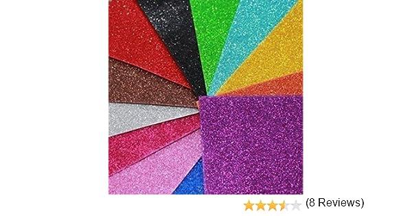 Format A4-10 couleurs assorties Feuilles Kraftz/® /À paillettes Autocollantes En mousse EVA