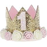 Ouinne 1 Anno Fascia Tiara, Fascia Bambina dei Capelli Corona Principessa dei Capelli