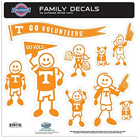 NCAA Tennessee Volunteers Family Character Decals, Large