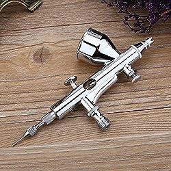 Pistolet de pulvérisation d'art d'aiguille de kit d'aérographe de double action 0.2mm / 0.3mm / 0.5mm pour le gâteau/clou/modèle