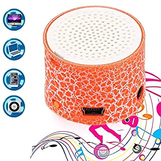 Befied SmartLife - Mini Super Portable Bluetooth Speaker Music Box   LED Speakers Wireless bluetooth speaker with TF Port  Support APP (Orange)
