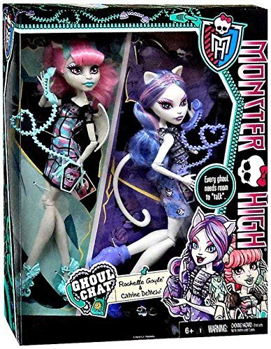 Monster High GHOUL CHAT Exclusive 2-PACK - Rochelle Goyle & Catrine DeMew (Rochelle High Monster)