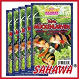 SAHAWA® Rote Mückenlarven gezüchtet Frostfutter 5X 100g Blister + 1 Blister Daphnien gratis, verpackt mit Trockeneis -78°C, Aquarium, Aquaristik, Fischfutter, Frostfutter