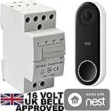 16v Transformer BT8-16 8VA for Nest Hello Doorbell 16 Volt - Designed for Nest Hello Door Bell to be Used in The UK
